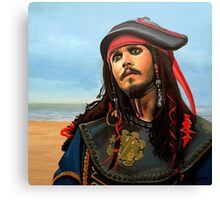 Johnny Depp as Jack Sparrow Painting Canvas Print