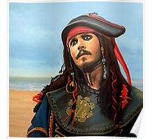 Johnny Depp as Jack Sparrow Painting Poster