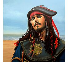Johnny Depp as Jack Sparrow Painting Photographic Print