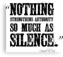 Authority Silence Free Speech Protest Canvas Print