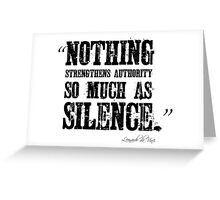 Authority Silence Free Speech Protest Greeting Card