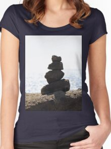 Balancing Rocks Women's Fitted Scoop T-Shirt