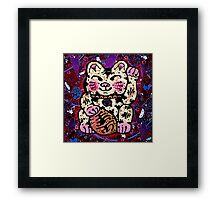 'Shiny Lucky Cat #2' Framed Print