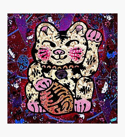 'Shiny Lucky Cat #2' Photographic Print