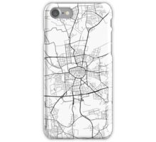 Dortmund Map, Germany - Black and White iPhone Case/Skin