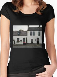 Cottages in Crawfordsburn, Northern Ireland Women's Fitted Scoop T-Shirt