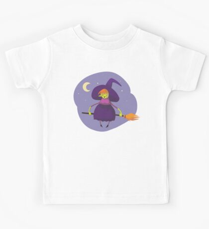 Happy Green Witch  Kids Tee