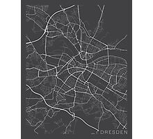 Dresden Map, Germany - Gray Photographic Print