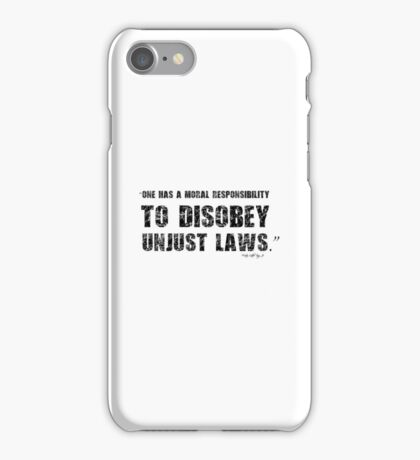 Martin Luther King Unjust Law Protest Quote iPhone Case/Skin