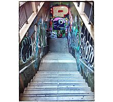 The Spanish Steps. To go or not to go. Subway graffiti. Photographic Print