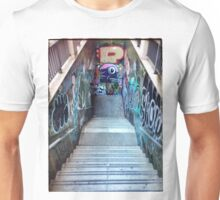 The Spanish Steps. To go or not to go. Subway graffiti. Unisex T-Shirt