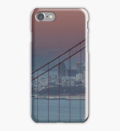 Moon, San Francisco, Golden Gate iPhone Case/Skin