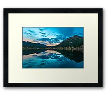 Lily Lake in Estes Park, Colorado. Framed Print