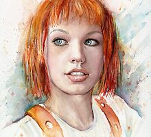 Leeloo Multipass Portrait - The Fifth Element by OlechkaDesign