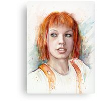 Leeloo Multipass Portrait - The Fifth Element Canvas Print