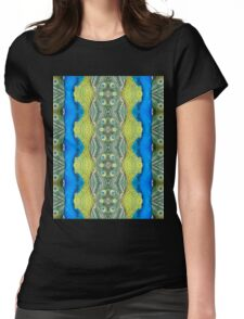 Peacock Patterns Womens Fitted T-Shirt