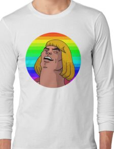 Rainbow He-Man Long Sleeve T-Shirt
