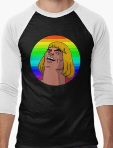 Rainbow He-Man Men's Baseball ¾ T-Shirt