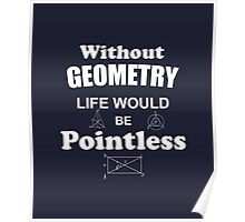 Life Without Geometry Would Be Pointless Poster