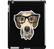 listen good doggy iPad Case/Skin