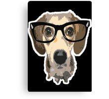 listen good doggy Canvas Print