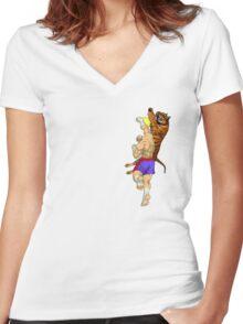 Tiger Uppercut Women's Fitted V-Neck T-Shirt