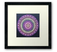 Colorful Flower Line Mandala Framed Print