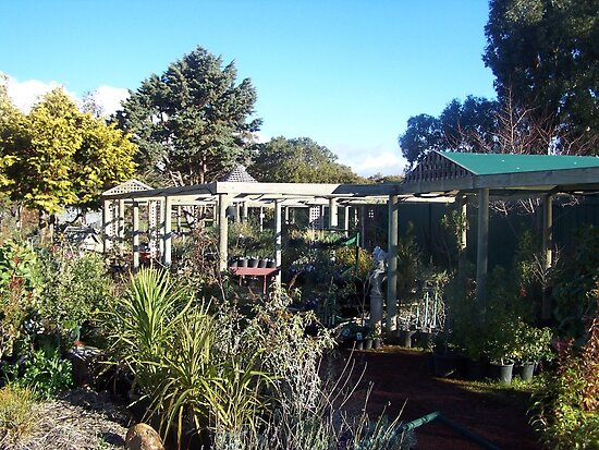 The Old Railway Station Nursery and Cafe in Lancefield Vic Australia by Margaret Morgan (Watkins)