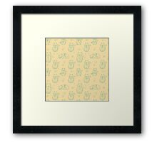 Cute abstract seamless cat pattern Framed Print