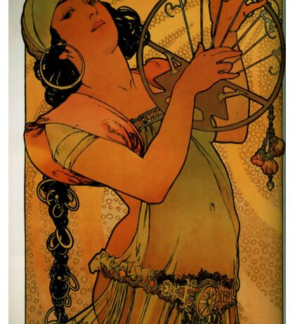 'Solome' by Alphonse Mucha (Reproduction) Sticker