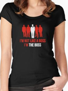 I'm Not Like A Boss. I'm The Boss. Women's Fitted Scoop T-Shirt