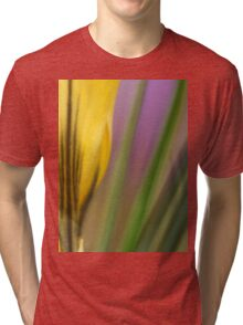 First flowers of the year in macro Tri-blend T-Shirt