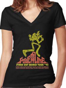 powerline Women's Fitted V-Neck T-Shirt