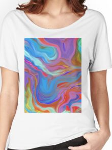 AGATE OIL PAINTING: MYSTERIOUS BLUES Women's Relaxed Fit T-Shirt