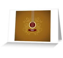 Classic Acoustic Guitar   Greeting Card