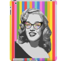 Marilyn Monroe in color glasses iPad Case/Skin