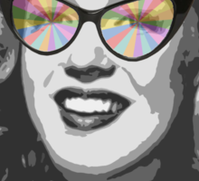 Marilyn Monroe in color glasses Sticker
