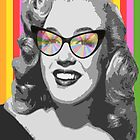 Marilyn Monroe in color glasses by benyuenkk