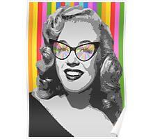 Marilyn Monroe in color glasses Poster