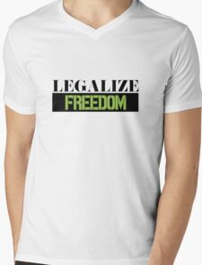 Legalize Freedom Civil Rights Protest Mens V-Neck T-Shirt