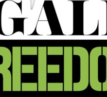 Legalize Freedom Civil Rights Protest Sticker
