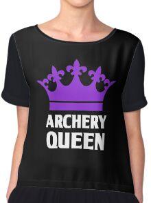 Funny Archery Queen Shirt Chiffon Top