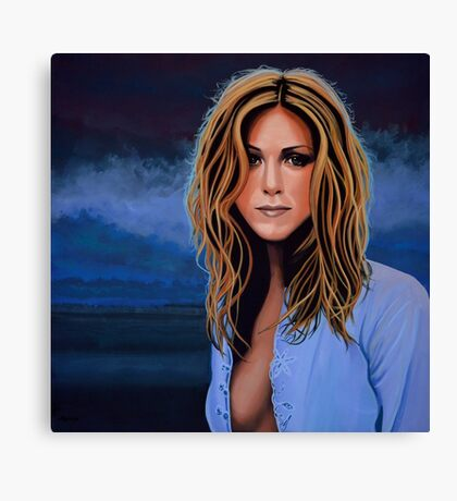 Jennifer Aniston Painting Canvas Print