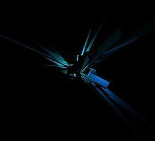Glowing Geometry of Blue And Green by Phil Perkins