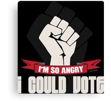Funny Political Voting Protest Joke Canvas Print