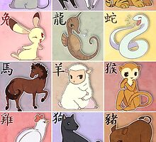Fruits Basket Zodiac by keshi