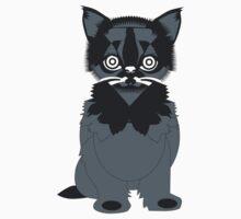 Cat In Black One Piece - Short Sleeve