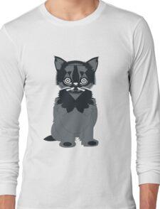Cat In Black Long Sleeve T-Shirt