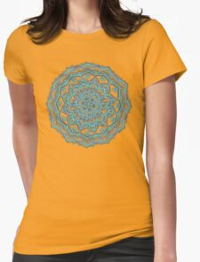 Summer Bloom - floral doodle pattern in turquoise & white T-Shirt