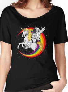 Astronaut riding unicorn death metal Women's Relaxed Fit T-Shirt